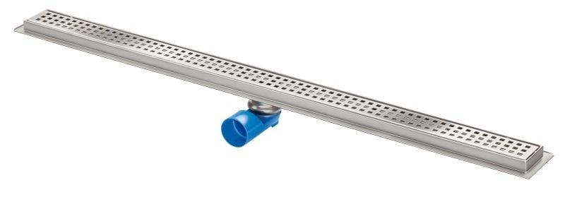Van Den Berg Premium Line afvoergoot 100 cm, zij-/onderaansluiting, rvs