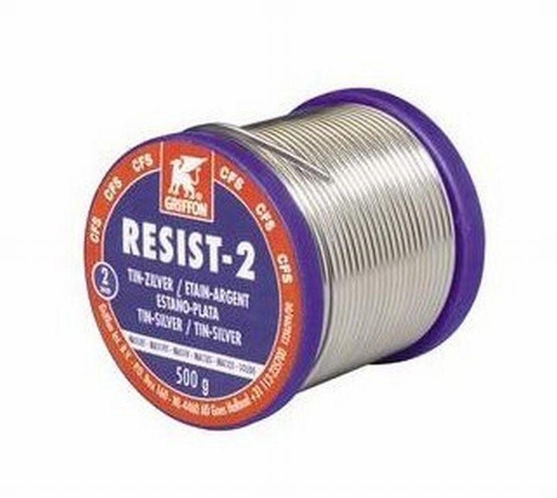 Griffon Resist-2 zilversoldeer massief spoel 500gr.