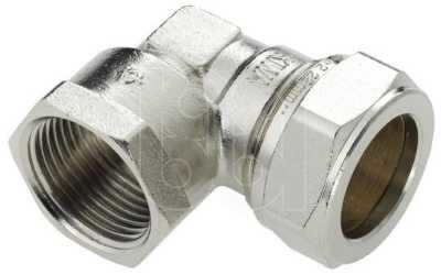 Bonfix kniekoppeling 1 bi.x22 mm, knel, vernikkeld