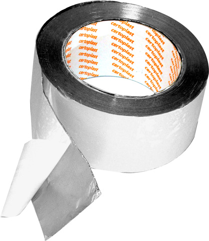 De Beer aluminium tape 50 mm, 50 m rol