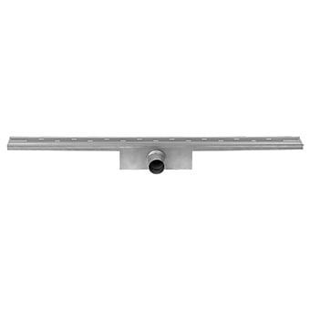 Easy Drain Compact 50 douchegoot 6x50 cm zijuitlaat met standaard rooster, rvs