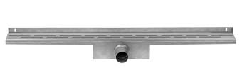 Easy Drain Compact Wall 50 afvoergoot 6x100 cm, zijuitlaat, rvs