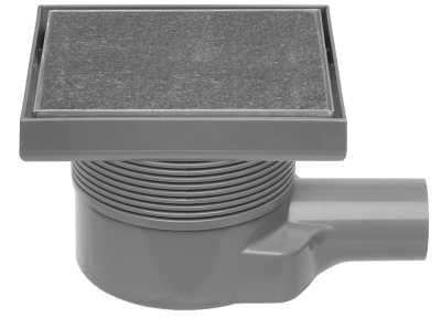 Easy Drain Aqua Quattro MSI-6T tegel vloerput 15x15 cm zijuitlaat kunststof, rvs