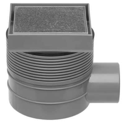 Easy Drain Aqua Quattro tegel vloerput abs 15x15 cm, horizontaal, tegel - rvs