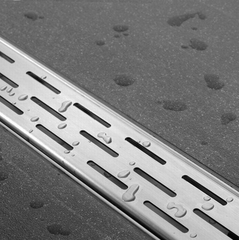 Easy Drain Compact FF 50 afvoergoot 6x100 cm, zijuitlaat met afdichtingsdoek, rvs