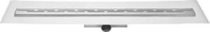Easy Drain Compact FF 50 afvoergoot 6x110 cm, zijuitlaat met afdichtingsdoek, rvs