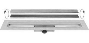Easy Drain Compact 30 TAF Wall afvoergoot 80x6 cm zijuitlaat, rvs