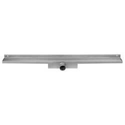 Easy Drain Compact Wall Zero afvoergoot 120x6 cm, zijaansluiting, rvs