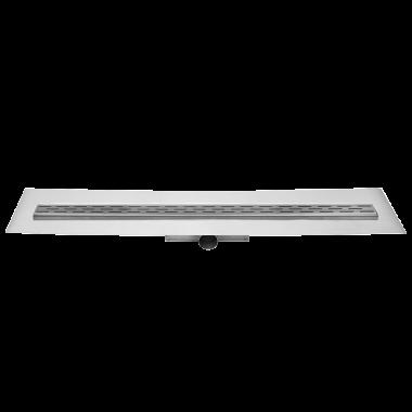 Easy Drain Compact FF 50 afvoergoot 80x6 cm zijuitlaat, rvs