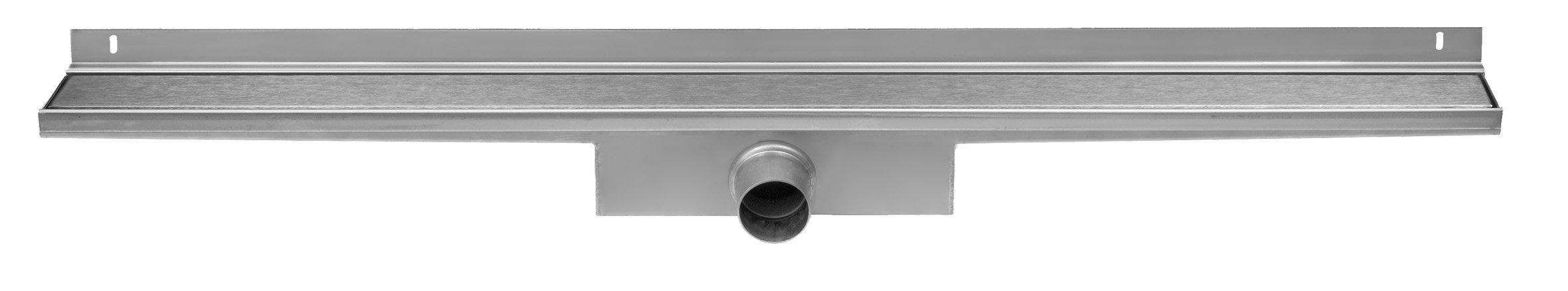 Easy Drain Compact Wall Zero afvoergoot 100x6 cm, zijaansluiting, rvs