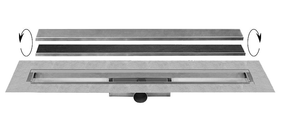 Easy Drain Compact 30 TAF Wall afvoergoot 90x6 cm zijuitlaat, rvs