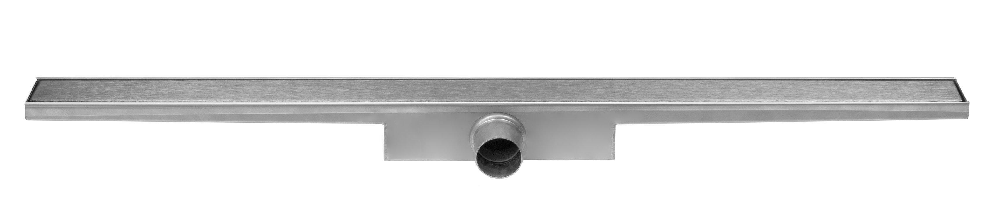 Easy Drain Compact Zero 30 afvoergoot 100x6 cm zijuitlaat, rvs
