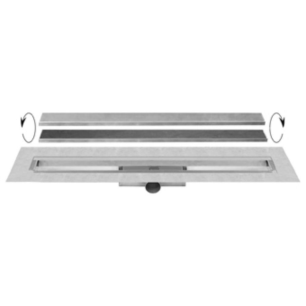 Easy Drain Compact 50 TAF Wall afvoergoot 90x6 cm, zijaansluiting, rvs