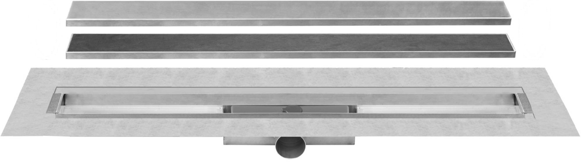 Easy Drain Compact 50 TAF afvoergoot 70 cm rooster Zero of voor tegel, rvs