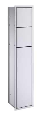 Emco Asis Module 150 inbouwtoiletmodule 82,5x17,4x15 cm linksdraaiend, aluminium
