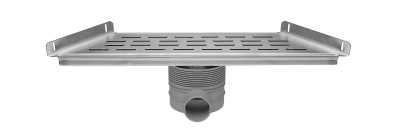 Easy Drain Multi trapezium goot 30x48,5x9,8 cm zij-uitlaat, rvs