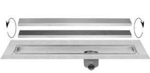 Easydrain Multi taf wall afvoergoot 80x9.8 cm, zijaansluiting, rvs