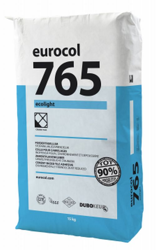 Eurocol 765 Ecolight poedertegellijm zak � 15kg