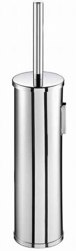 Geesa Nemox toiletborstelgarnituur wandmodel met witte borstel, chroom