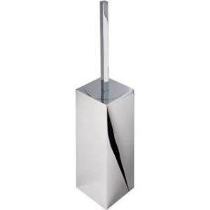 Geesa Modern Art toiletborstelgarnituur wandmodel met witte borstel, chroom