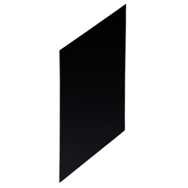 Geesa Public Area urinoirscheidingswand gehard glas, zwart