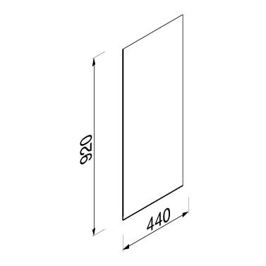 Productafbeelding van Geesa Public Area urinoirscheidingswand rschot gehard glas, wit
