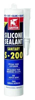 Griffon Sealant S-200 siliconenkit 300 ml, zilver grijs