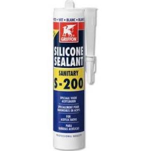 Griffon Sealant S-200 siliconenkit 300 ml, transparant