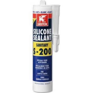 Griffon Sealant S-200 siliconenkit 300 ml, wit