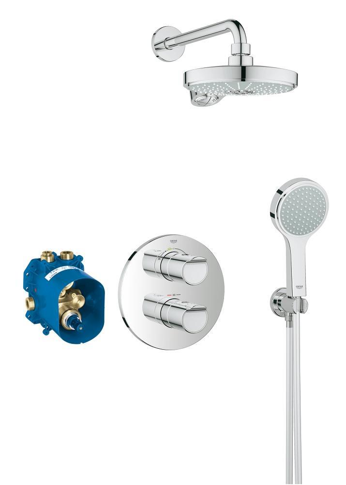 Grohe New Grohtherm 2000 thermostatisch (douche) inbouw douchecombinatie set chroom 34283001