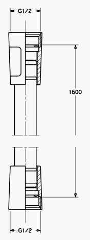 Hansa Hansa2day silverjet doucheslang 160 cm, chroom