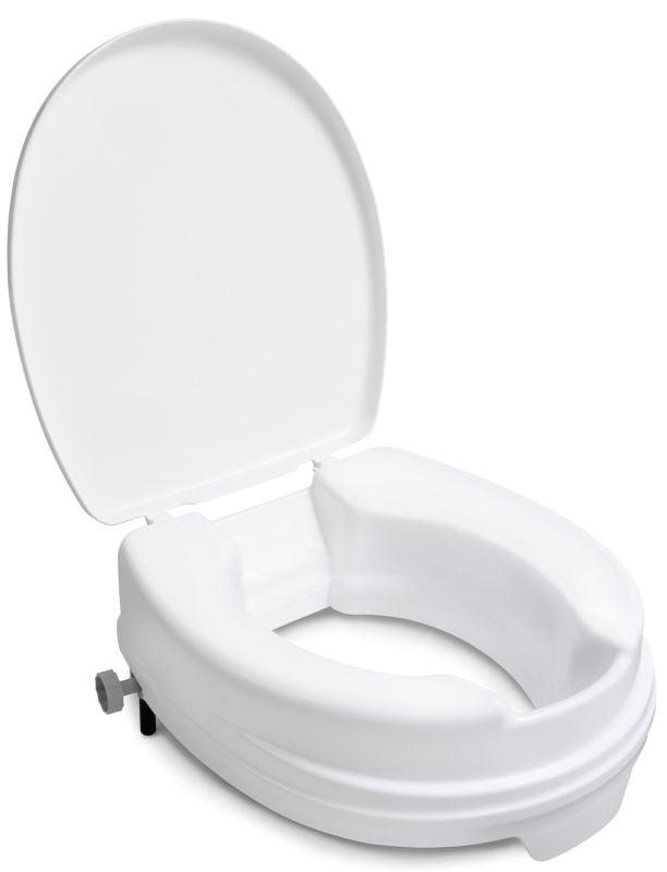 Handicare toiletverhoger met deksel verhoging 10 cm, wit