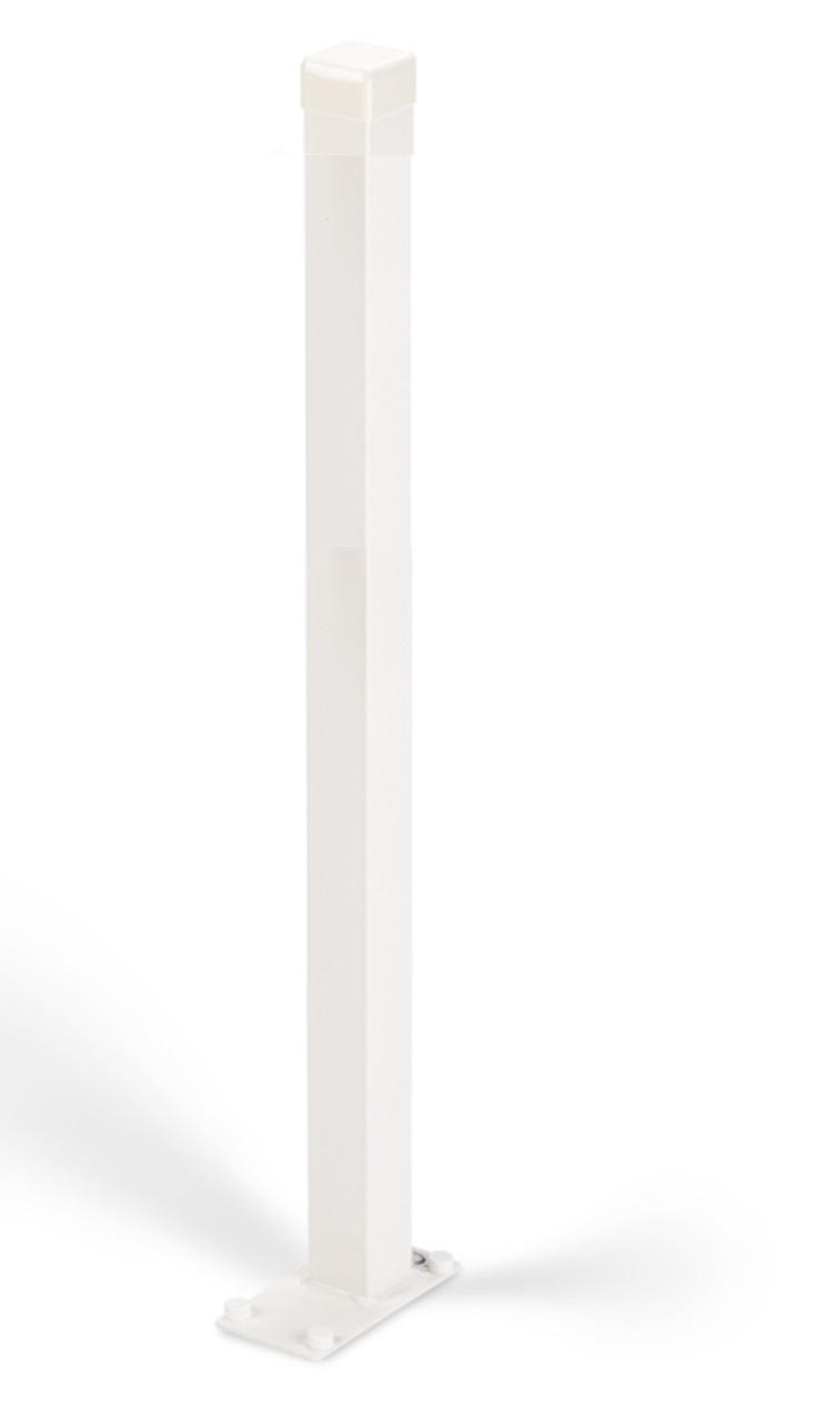 Handicare vloerstatief voor opklapbare toiletbeugel, rvs gecoat wit