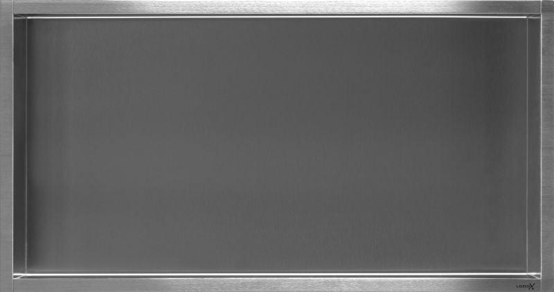 LoooX BoX inbouwnis 60x30x7 cm, rvs geborsteld