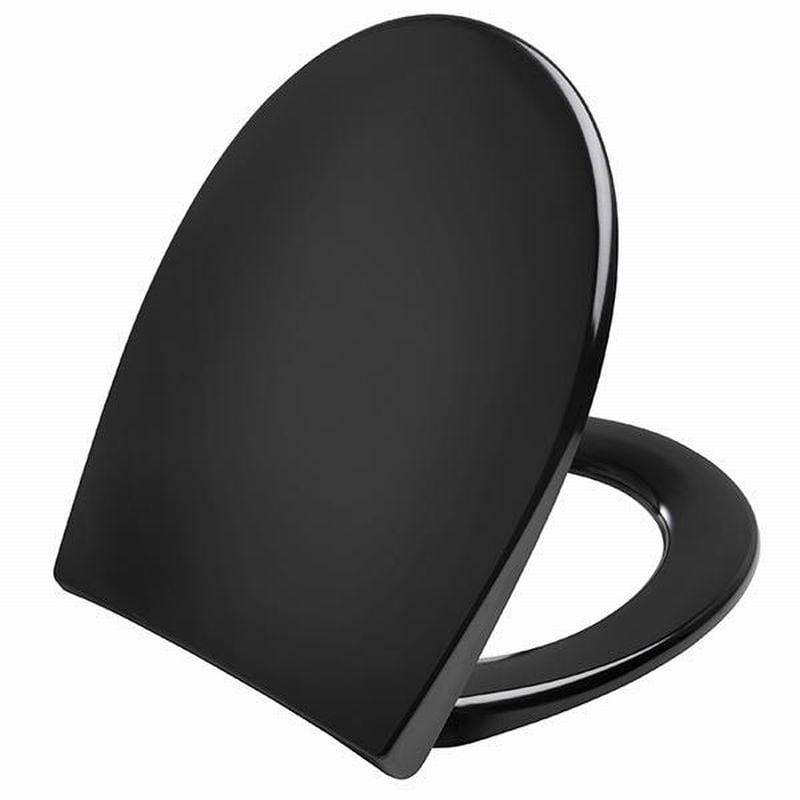 Pressalit Scandinavia Plus zitting softclose-quickrelease d05999 rvs scharn. zwart