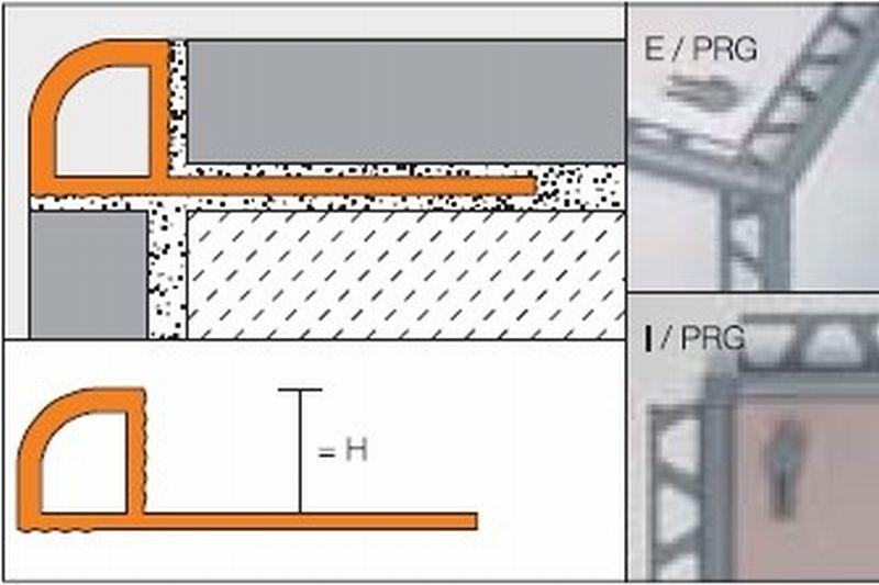 Schlüter Rondec-PRG tegelprofiel 12,5 mm, 250 cm, pvc, wit