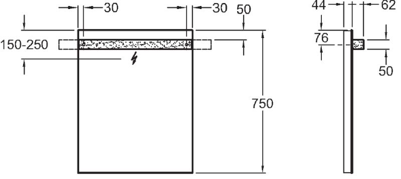 Sphinx 345 spiegel met opbouw LED-verlichting, 60x75 cm