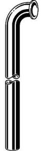 """Viega Project vloerbuis 1 1/4""""x68 cm, met korte bocht, chroom"""