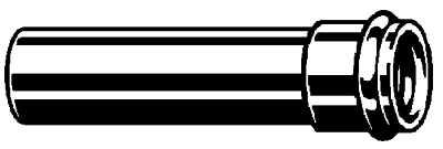 VIEGA PROJECT verlengpijp voor sifon 125 x 32 CHROOM (102647)