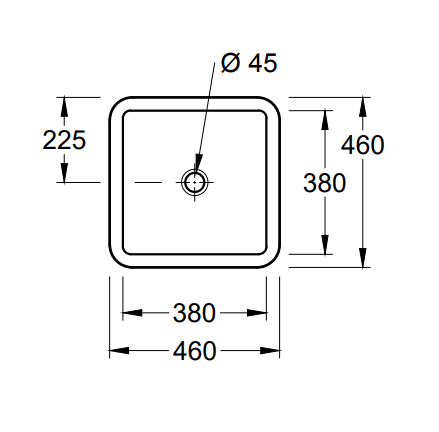 Productafbeelding van Villeroy & Boch Loop & Friends onderbouw wastafel vierkant 38x38 cm met overloop CeramicPlus, wit