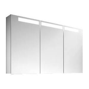 Villeroy & Boch Reflection spiegelkast met TL-verlichting 3 deuren 130x74 cm