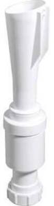 Walraven BIS trechtersifon 60x32 mm, wit