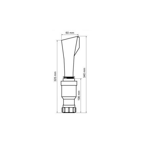 Walraven BIS trechtersifon 60x40 mm, wit