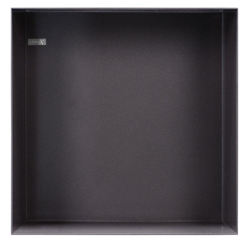 LOOO inbouwnis badkamer vierk Colour BoX, antraciet