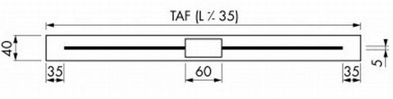 Easy Drain Xs Nano douchegoot 80 cm, waterslot 50, rvs geborsteld