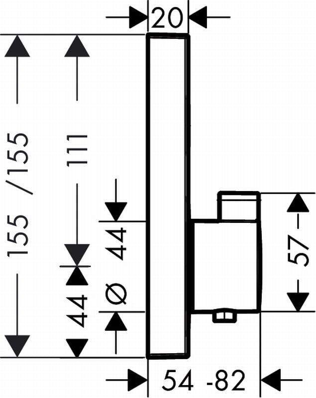 Hansgrohe ShowerSelect afdekset douchethermostaat met 1 stopfunctie, chroom