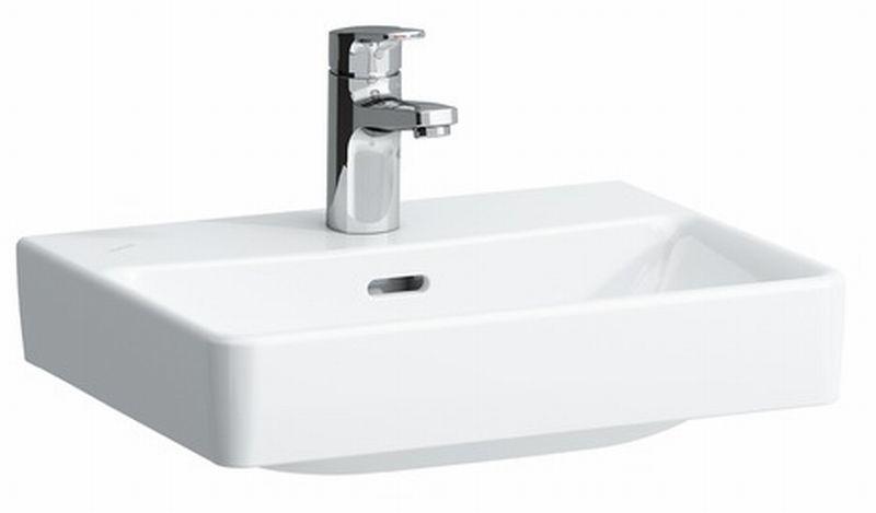 Laufen PRO S fontein met 1 kraangat en overloop 45x34 cm, wit