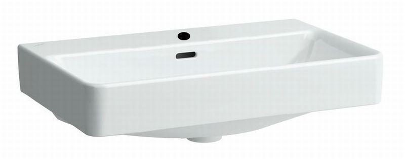 Laufen Pro Liberty medische wastafel 65x55 1xkraangat met overloop, wit