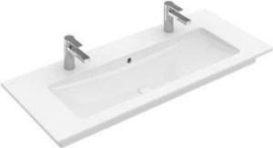 Villeroy & Boch Venticello meubelwastafel 120x50 cm met 2 kraangatenmet overloop, wit