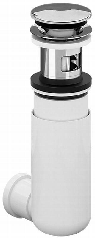 Villeroy & Boch EasyAccess sifon met push-open plug, chroom